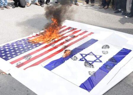 لاہور، مال روڈ پر ''اسرائیل مسترد'' ریلی، شرکاء کے اسرائیل مردہ باد کے نعرے