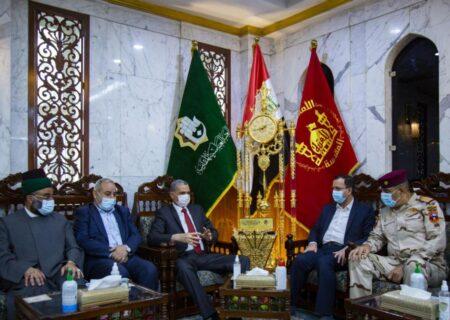 عراقی وزیر داخلہ کی روضہ مبارک حضرت عباسؑ میں حاضری