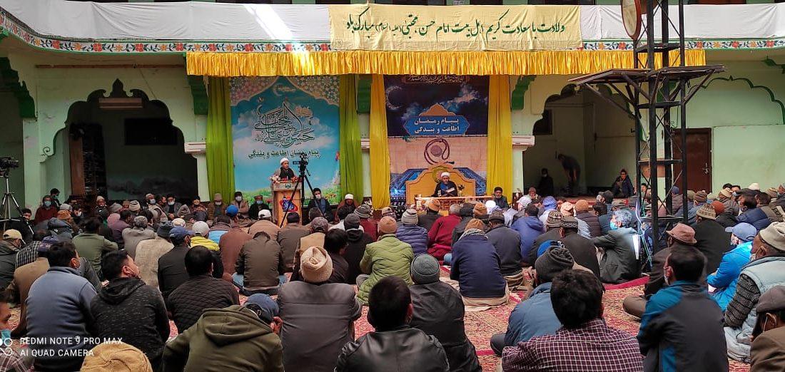 امام حسن مجتبیؑ کی ولادت با سعادت کی مناسبت سے انجمن جمعیت العلماء اثنا عشریہ کرگل کے زیر اہتمام ایک عظیم الشان جشن کا انعقاد
