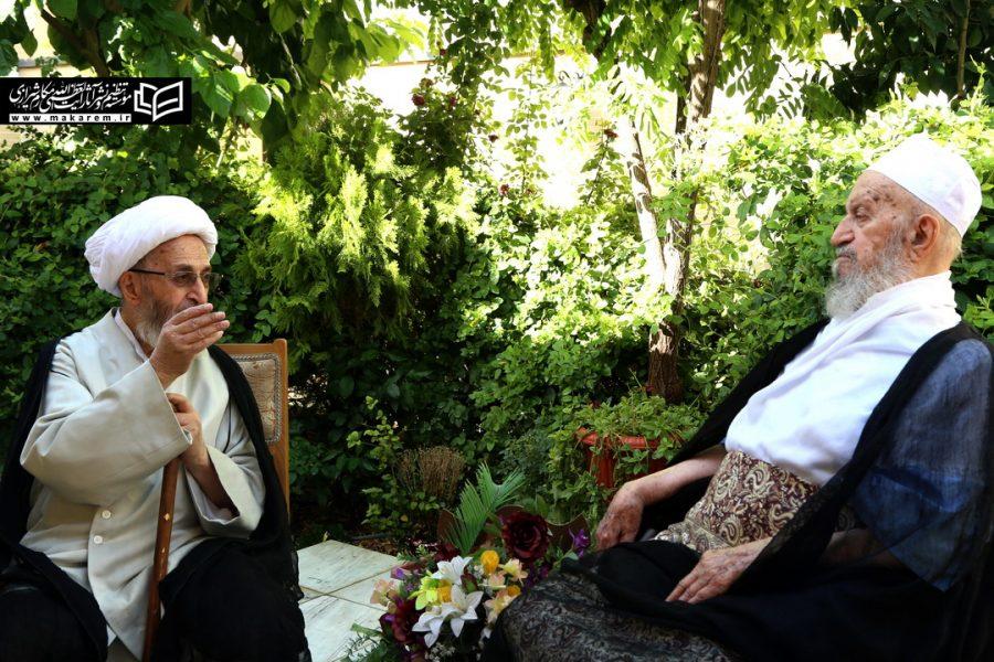 ویڈیو آیات عظام مکارم شیرازی اور جعفر سبحانی کی خصوصی ملاقات
