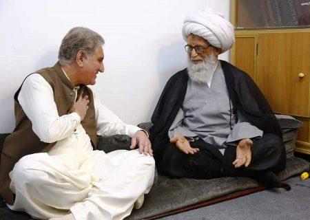 وزیر خارجہ شاہ محمود قریشی کی عراق میں آیت اللہ العظمی حافظ بشیر نجفی سے ملاقات