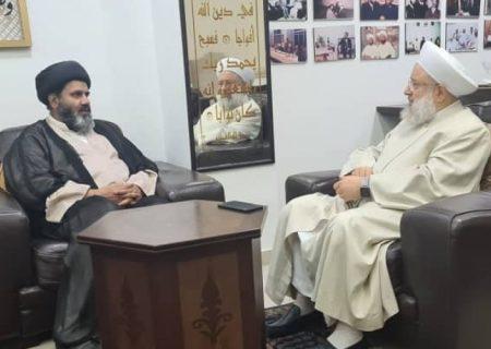 سیکریٹری امور خارجہ ایم ڈبلیوایم پاکستان ڈاکٹر شفقت شیرازی کی مفتی اعظم لبنان الشیخ ماہر حمود سے ملاقات