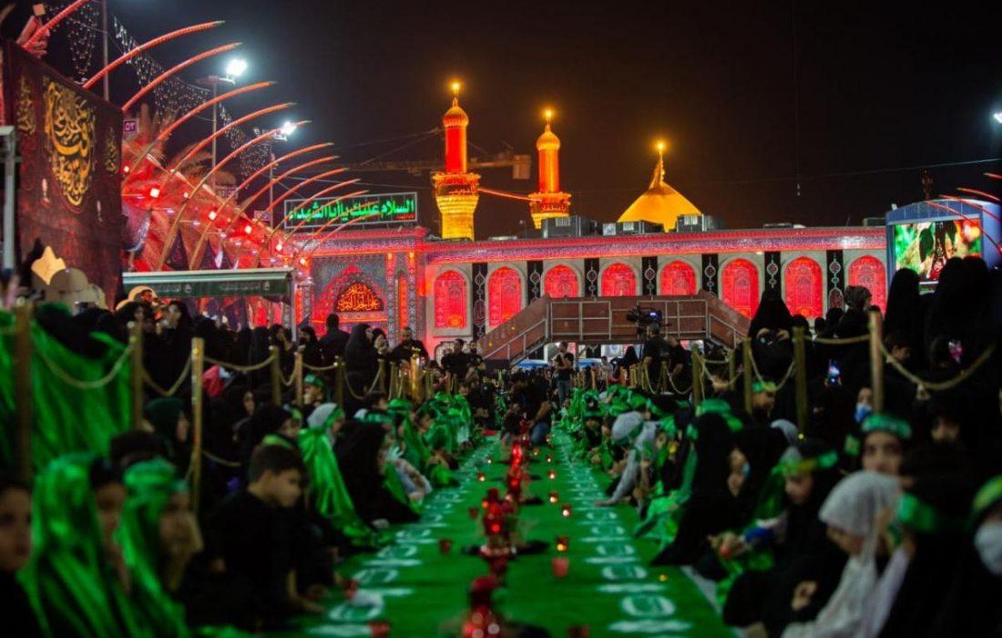 تصویری رپورٹ  شہادت حضرت سکینہ (س) کی مناسبت سے کربلا میں مجلس عزاء منعقد