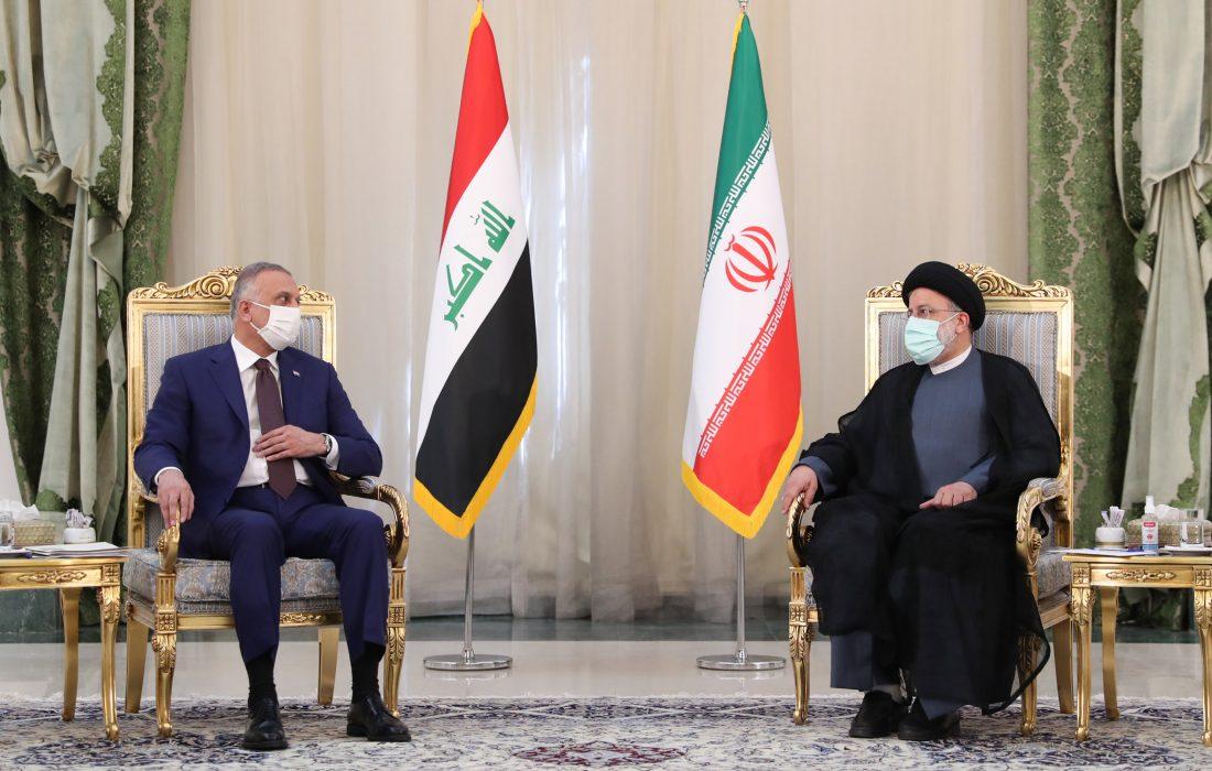 تصویری رپورٹ  آیت اللہ رئیسی سے عراقی وزیراعظم کی ملاقات