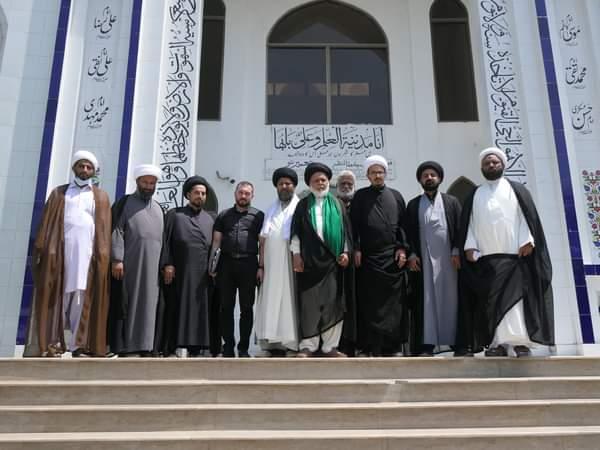 دفتر حضرت آیۃ اللہ حافظ بشیر حسین نجفی کے وفد کی حضرت آیت اللہ حافظ سید ریاض حسین نجفی مدظلہ العالی سے ملاقات