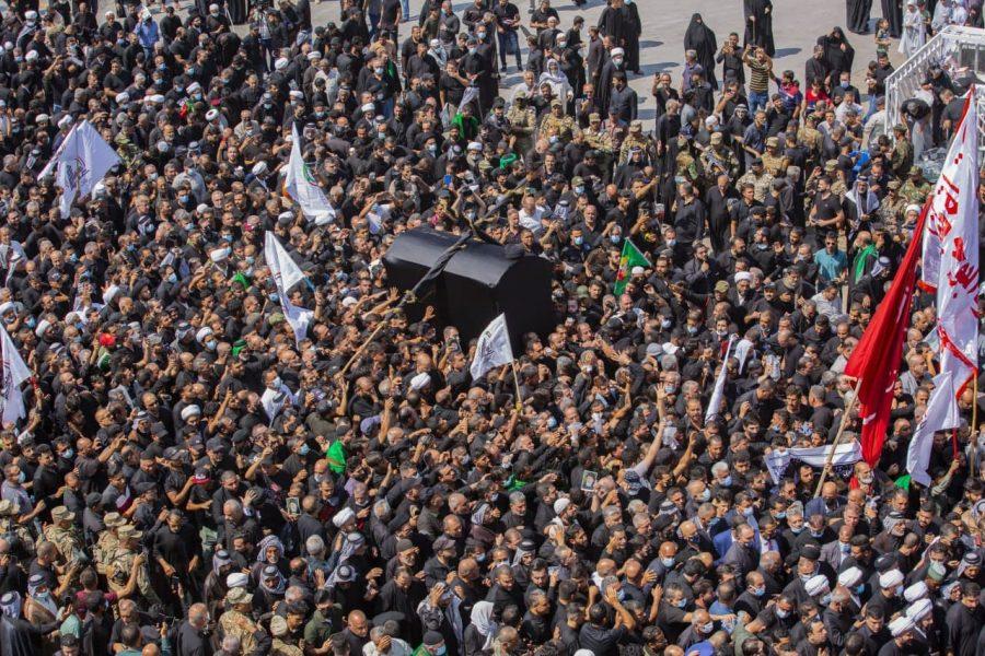 ویڈیو| کربلا میں آیت اللہ العظمی سید محمد سعید حکیم کی نماز جنازہ