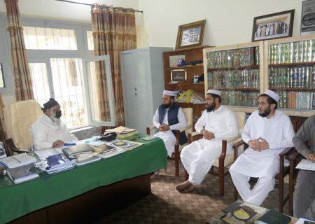 جمعیت طلبہ عربیہ پاکستان کے وفد کی آیت اللہ حافظ سید ریاض حسین نجفی سے ساتھ ملاقات